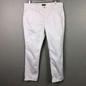 NYDJ White High Rise Skinny Leg Jeans 16P